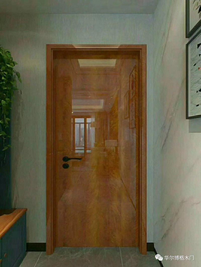 华尔博格三维高光钢琴漆木门效果图