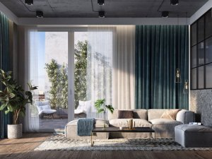 工业风阳台铝合金玻璃门效果图 卧室创意玻璃门效果图