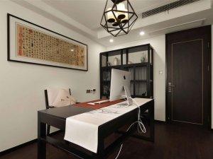 新中式书房门装修效果图 黑色木门图片大全