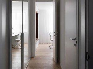 简约卧室木门效果图 白色平板门图片