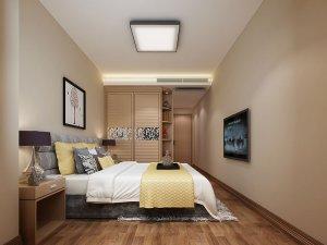 现代风格卧室门效果图 原木色平板门图片大全