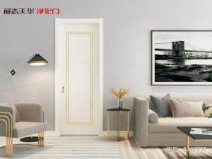 展志天华木门图片 轻奢极简油漆门装修效果图