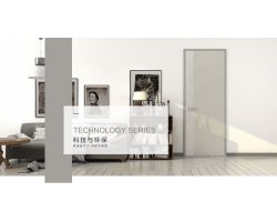 兔宝宝木门效果图 科技木系列简约风格卧室门图片