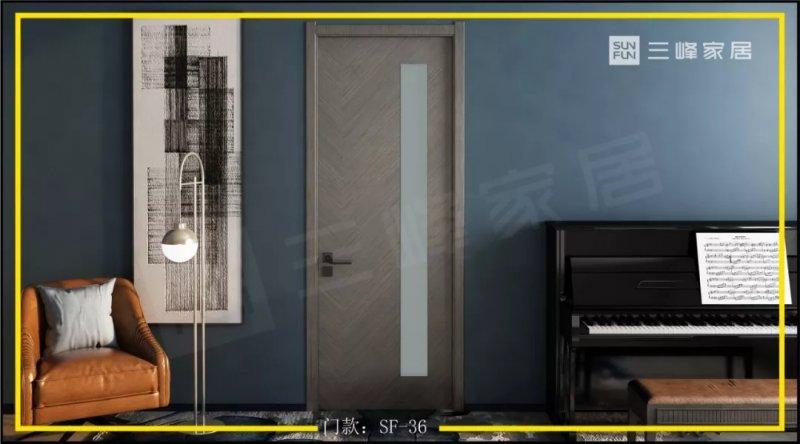 三峰木门图片 全新油漆门系列产品及装修效果图
