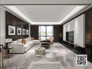 欧丽亚木门图片 简约现代风公寓客厅装修效果图