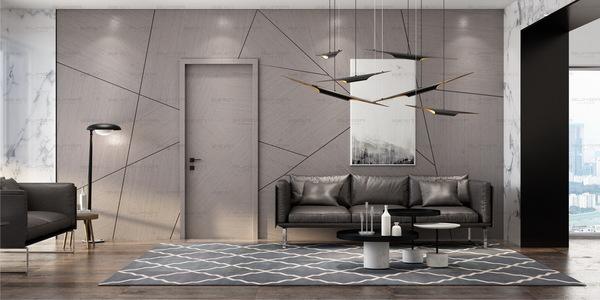 尚家木门图片  现代简约风格家居装修效果图