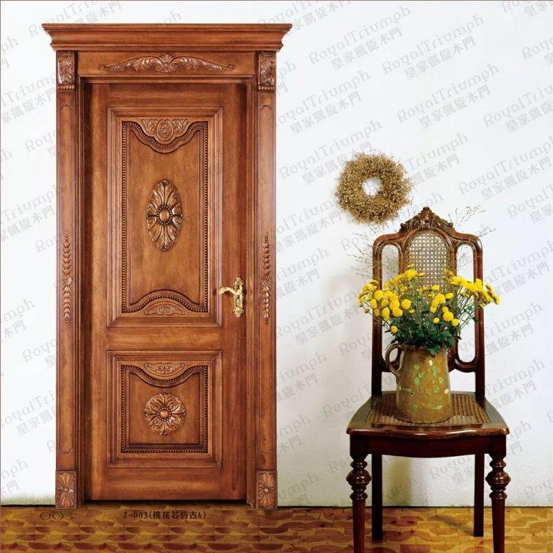 皇家凯旋木门图片 新中式风格木门装效果图