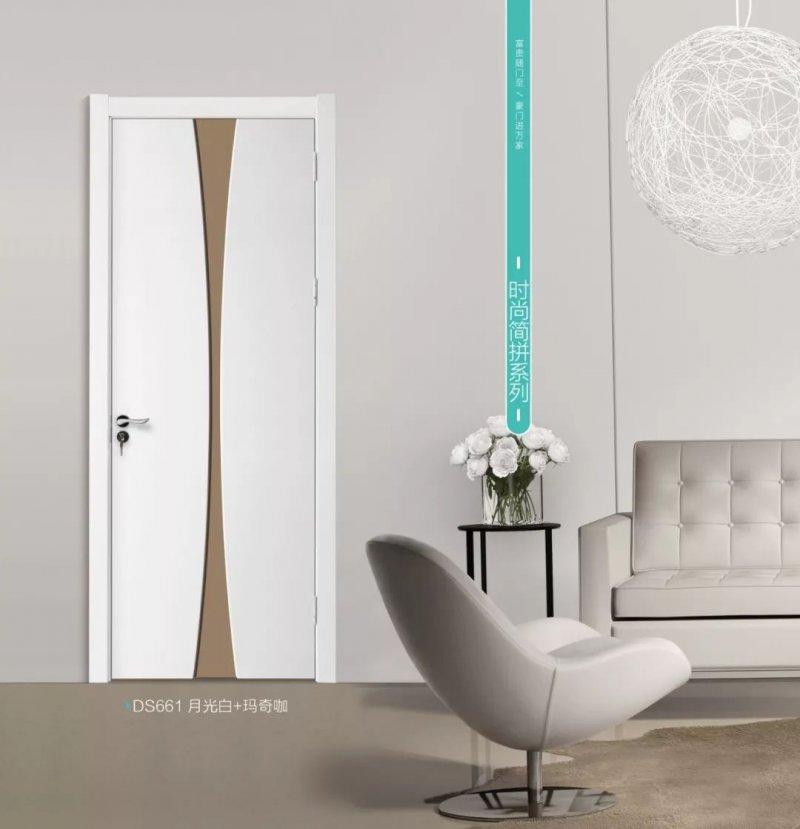 大富豪门业图片 白色木门装修效果图
