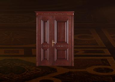 不同档次的实木门有哪些手动旋转门差别?楷隆木门