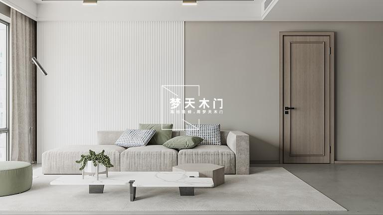 梦天木门图片「水悦」系列产品效果图